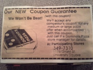 Coupon Guarantee