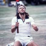 Björn Borg vinner Wimbledon för femte gången.