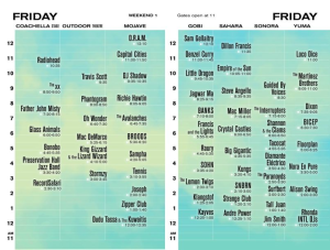 Coachella Set Times Fri17