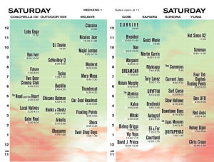 Coachella Set Times Sat 17